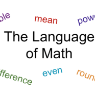 "Webinar on ""The Language of Math"""